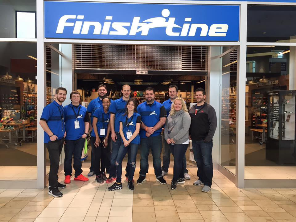 The amazing Finish Line staff!