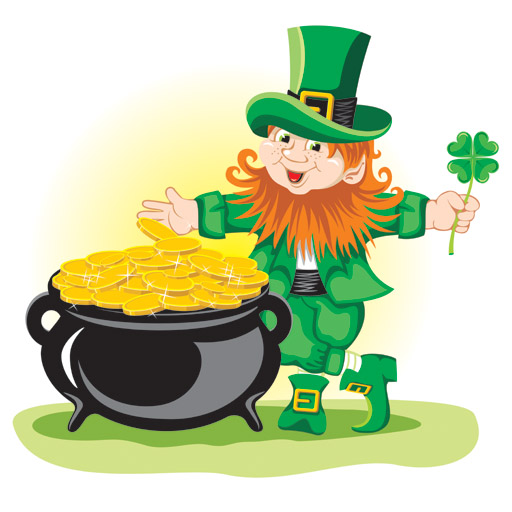Leprechaun with his gold